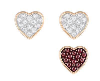 Swarovski Crystal Wishes Heart Pierced Earring Set
