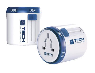 "Travel Blue ""Twist & Slide"" World Travel Adaptor"