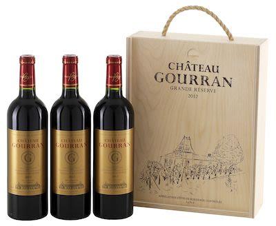2012 Château Gourran Grande Réserve Wooden box 3x75 cl. - Alc. 13.5% Vol.