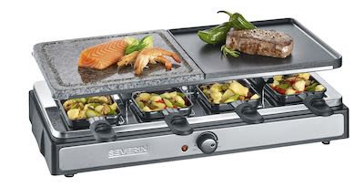 Severin RG2344 Raclette Grill with Natural Grill Stone