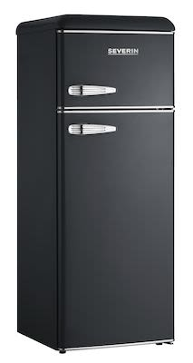 Severin KS9957 retro refrigerator/freezer Black