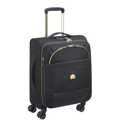 Delsey Montrouge (41L) 4W Cabin Trolley Slim, Black
