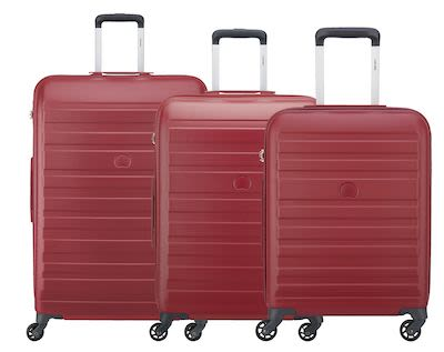 Delsey Peric 3 pcs Hard Nest, Red