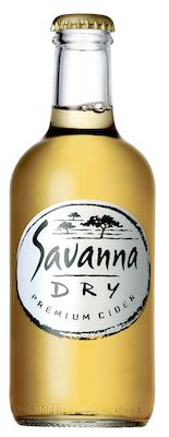 Savanna Dry Premium 24x33 cl. btls. - Alc. 5.0% Vol.