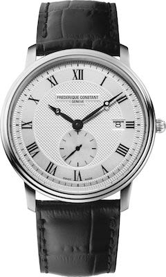 Frederique Constant Gent's Slimline Stainless Steel Leather Watch