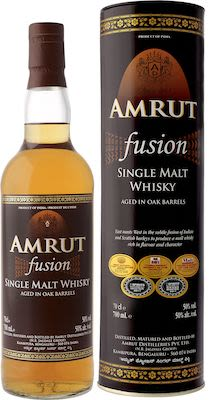Amrut Fusion Indian Single Malt, 70 cl. - Alc. 50% Vol. In gift box.