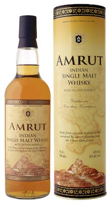 Amrut Indian, Single Malt, 70 cl. - Alc. 46% Vol. In gift box.
