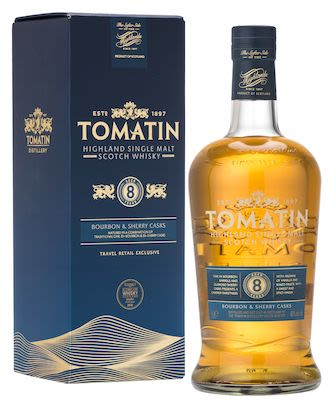 Tomatin 8 YO, 100 cl. - Alc 40% Vol. In gift box. Highland.