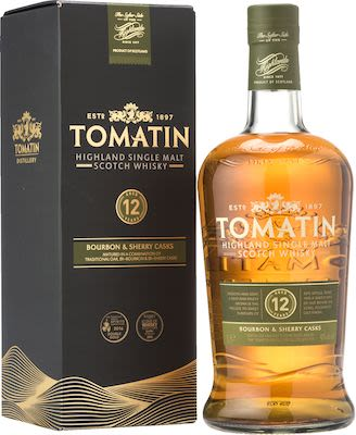 Tomatin 12 YO, 100 cl. - Alc. 43% Vol. In gift box. Highland.