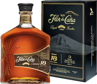 Flor de Caña Centenario 18 YO 100 cl. - Alc. 40% Vol. In gift box.