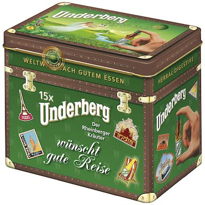 Underberg Bitter. In tin box. 15 x 2 cl. - Alc. 44% Vol.