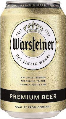 Warsteiner Premium 24x33 cl. cans. - Alc. 4.8% Vol.