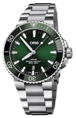 Oris Aquis Gents Date Watch, Deep Green