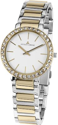 J.L. Ladies' Classic Milano Watch Bicolour IP-Gold