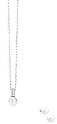 Misaki Moonriver white pendant set
