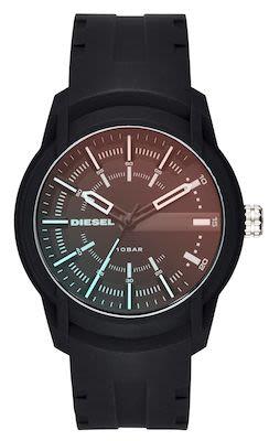Diesel Unisex Armbar Black Silicone Watch
