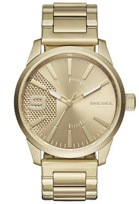 Diesel Gent's Rasp Gold Watch