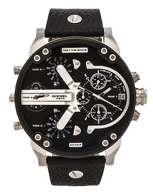 Diesel Gent's The Daddies Series Silver Watch