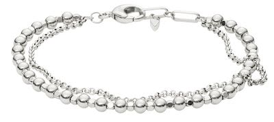Fossil Ladies' Fashion Silver Bracelet
