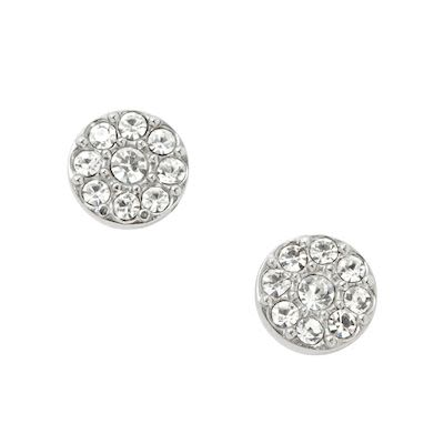 Fossil Ladies' Vintage Glitz Silver Earring