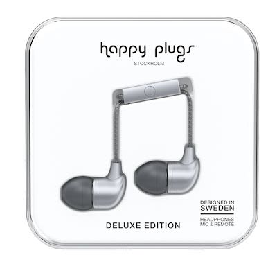 Happy Plugs Unisex Grey In-ear headphones