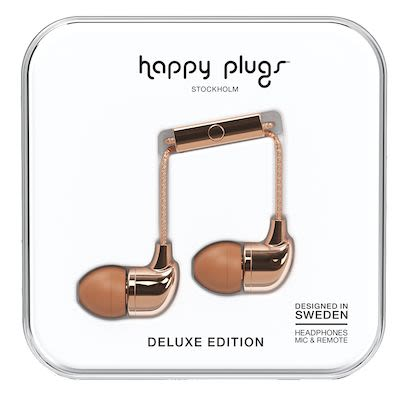 Happy Plugs Unisex Rosé Gold In-ear headphones