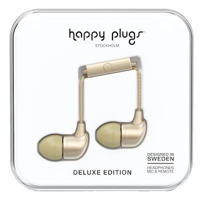 Happy Plugs Unisex Champagne Deluxe In-ear headphones