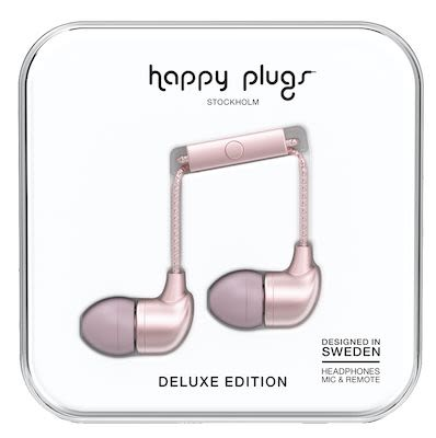 Happy Plugs Unisex Pink Gold Deluxe In-ear headphones