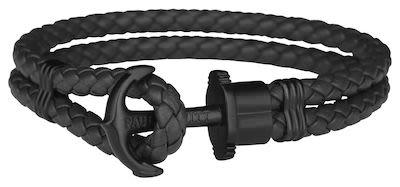 Paul Hewitt Unisex Phrep Black Bracelet 19 cm