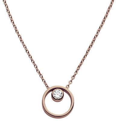 Skagen Ladies' Elin Rose Gold Necklace