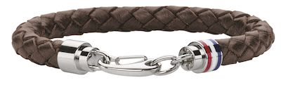 Tommy Hilfiger Gents' Brown Leather Bracelet