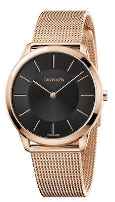 Calvin Klein Ladies' Minimal Watch Pink Gold/Black