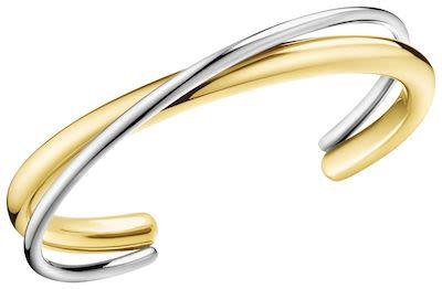 Calvin Klein Ladies' Double Bracelet Silver/Gold