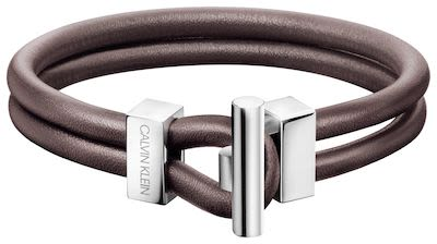Calvin Klein Gent's Anchor Bracelet Brown Leather