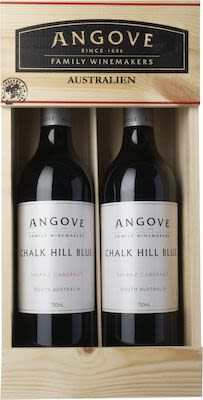 Angove Chalk Hill Blue Shiraz/Cabernet. In wooden box 2X75 cl. - Alc. 14% Vol.