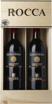 Rocca Sangiovese. In wooden box 2x75 cl - Alc. 13% Vol.
