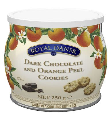 Kelsen Royal Dansk Dark Chocolate & Orange Peel cookies 250g