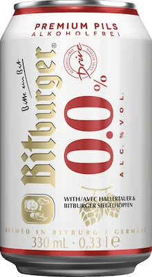 Bitburger Drive Non Alcoholic 24x33 cl. cans.