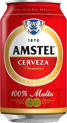 Amstel Beer 24x33 cl. cans. - Alc. 5% Vol.