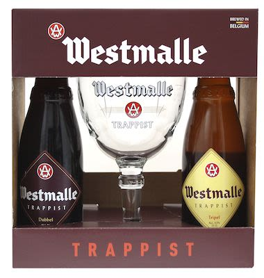 Westmalle Gift box w/glas 2x33 cl. blts. - Alc. 8.25 % Vol.