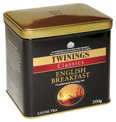 Twinings English Breakfast in tin 500g