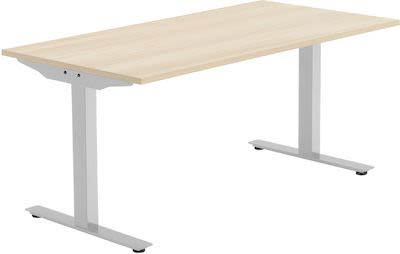Desk Oak laminate, T-frame silver