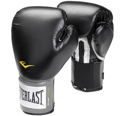 Everlast Black Boxing Glove - 10 oz