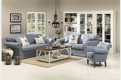 2-seater Classic Living Fabric Couch
