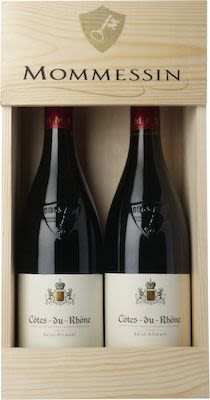 Mommessin Côtes du Rhône Wooden box 2x75 cl Alc. 13,5% Vol.