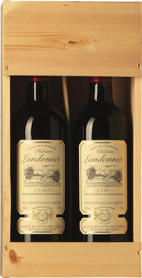 Château Landonnet Bordeaux. In wooden box 2 X 75 cl. - Alc. 12,5% Vol.