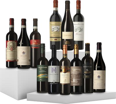 12 Bottles Tasting Box Italian Red