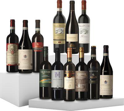 12 Bottles Tasting Box Italian Red