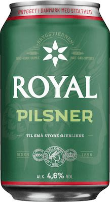 Royal Pilsner 24x33 cl. cans. - Alc. 4.6% Vol.