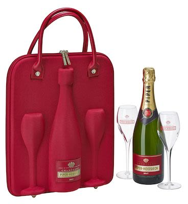 Piper-Heidsieck Cuvée Brut Champagne 12% Alc. - 75 cl. Supplied in Travel gift set incl. 2 glasses.